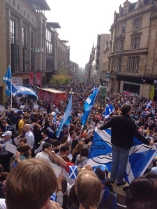 Mass Yes Rally final Saturday Glasgow