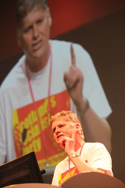 LEFT VOICES: Colin Fox speaking at RIC 2014 PHOTO: Craig Maclean