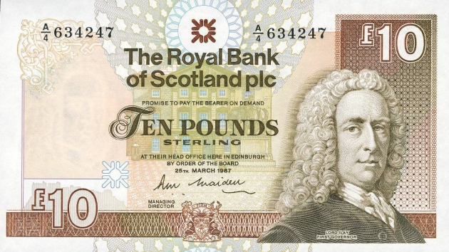 scottish ten pounds tenner