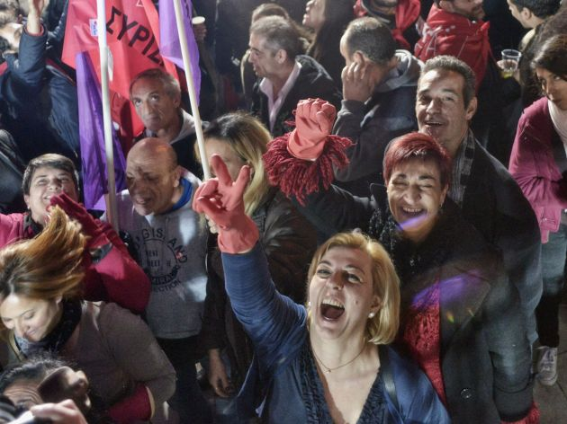 syriza victory celebrations