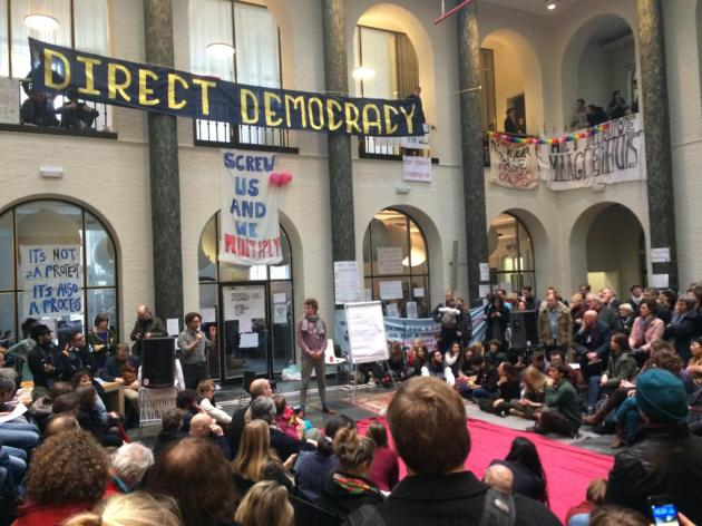 Maagdenhuis: occupation agreed to leave voluntarily on 12 April 2015