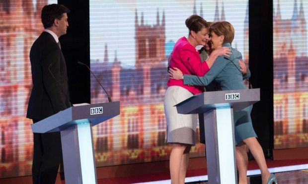 Let's all do the huddle: when the TV debates gave a platform to parties who opposed austerity, the public sat up and noticed, and the elite went into overdrive against them