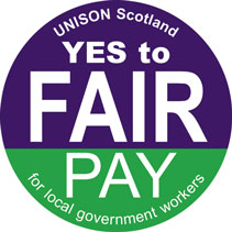 UNISON Fair Pay sticker