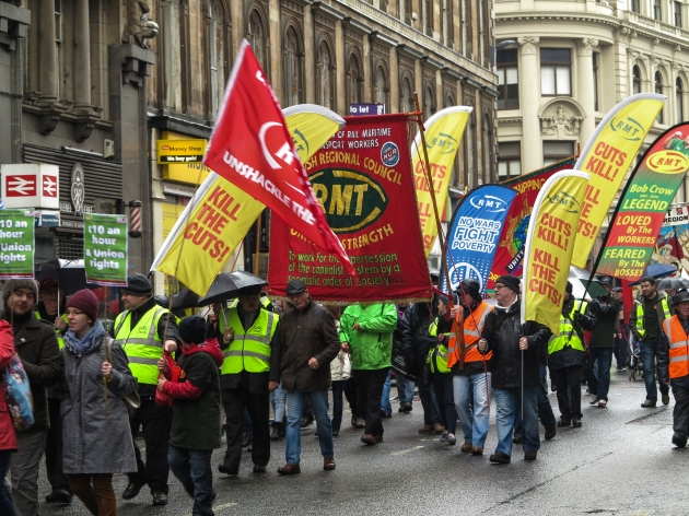 union banners Glasgow may day 2015 CM
