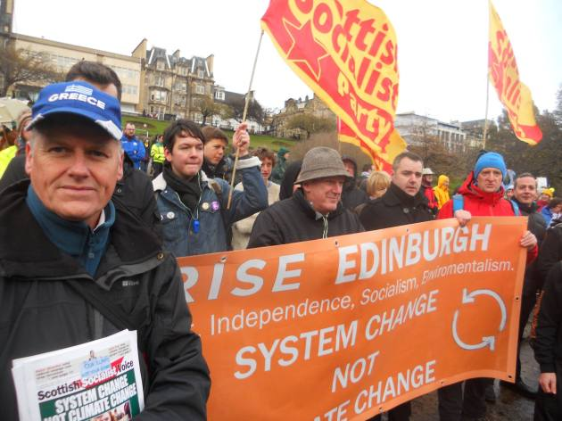 Colin-rise-ssp-climate march-edinburgh