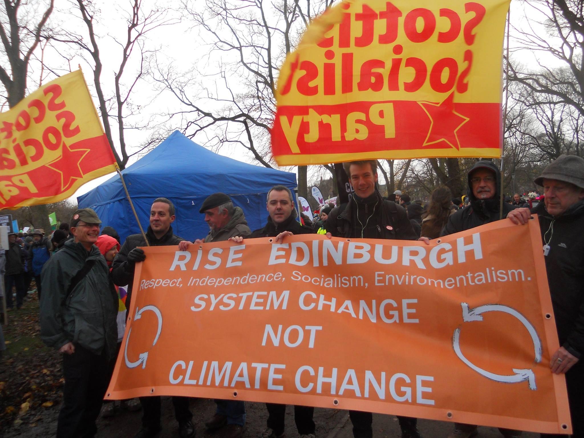 rise-ssp-climate march-edinburgh