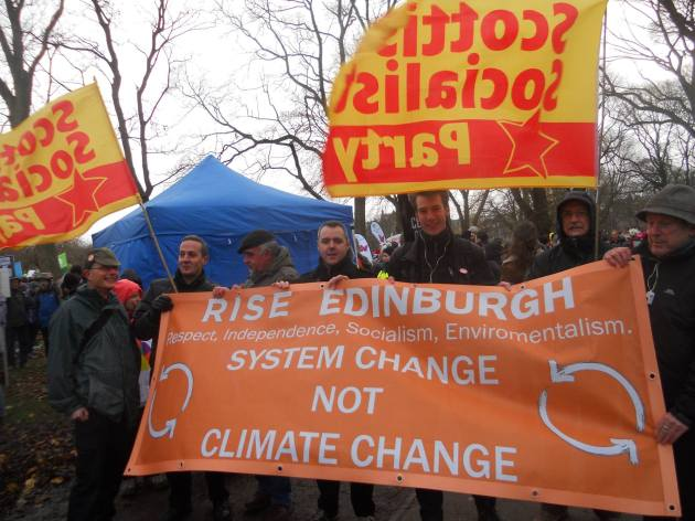 rise-ssp-climate march-edinburgh