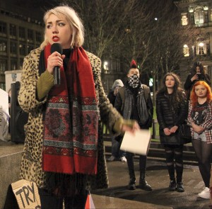 CAT BOYD: 'We need to keep the pressure on Westminster and re-assert the radical demands of the independence movement to ensure Cameron and Osborne know that austerity will see a defiant challenge from citizens in Scotland where the majority are opposed to the UK government' (Photo: Craig Maclean)