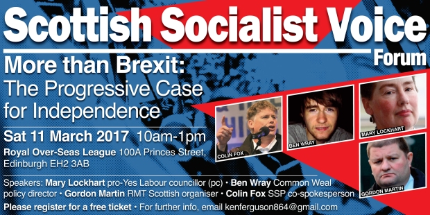 Get free tickets via Eventbrite at https://www.eventbrite.com/e/more-than-brexit-the-progressive-case-for-independence-tickets-32328448259