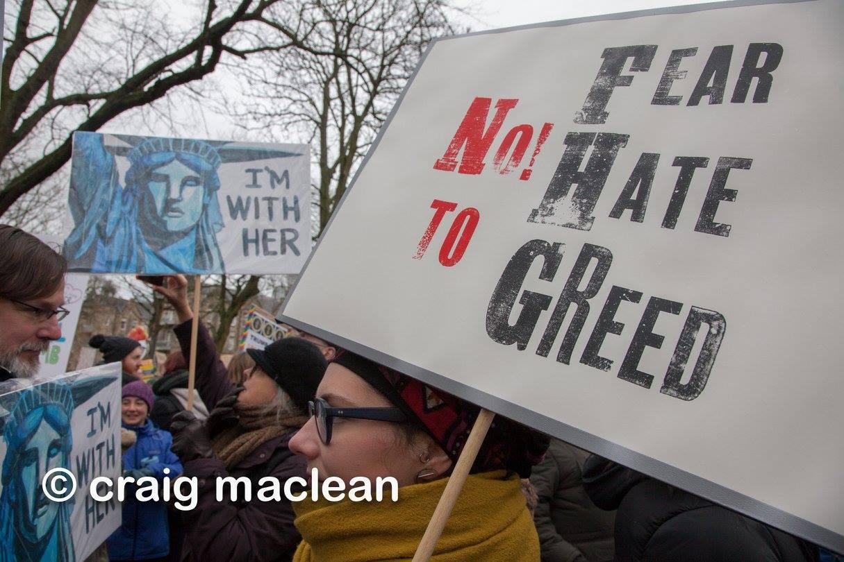 cm-no fear-no hate-nogreed-placard