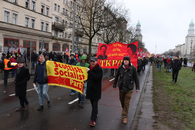ssp comrades at berlin luxemburg liebknecht march-pic andrewgray