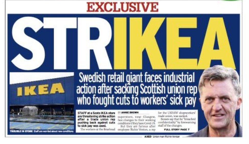 Strikea Daily Record Ikea RichieVenton